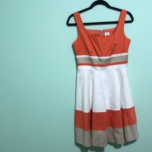 Blocked colored ribbon dress